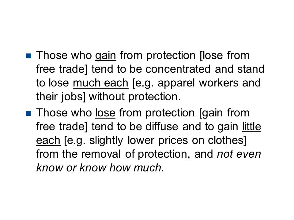 Political Economy of Protection