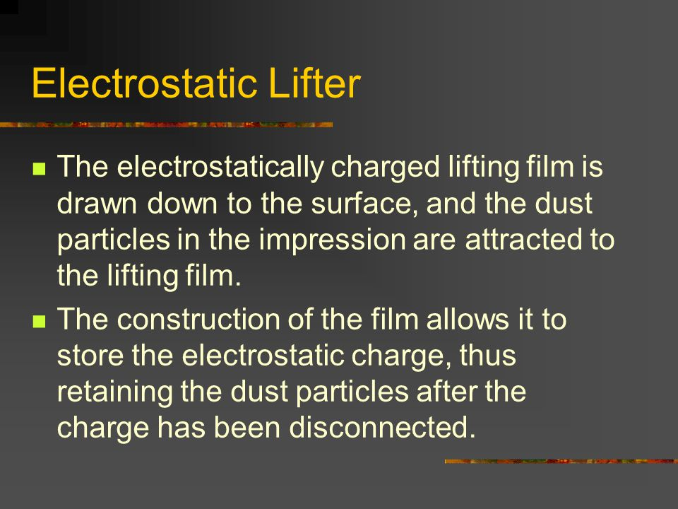 Electrostatic Lifter