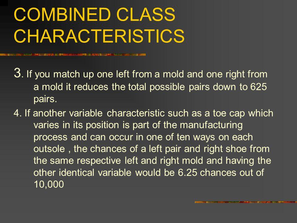 COMBINED CLASS CHARACTERISTICS