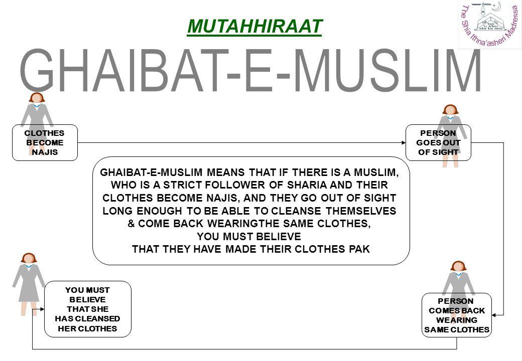 GHAIBAT-E-MUSLIM MUTAHHIRAAT