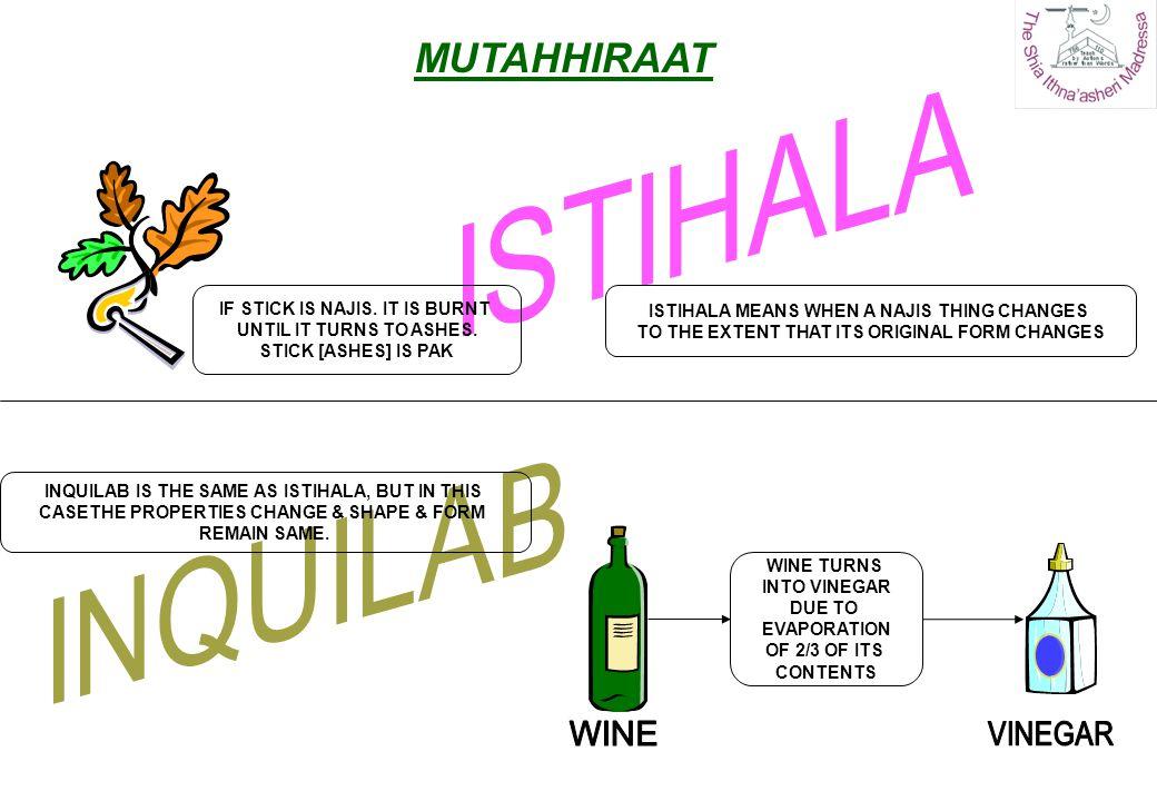 ISTIHALA INQUILAB MUTAHHIRAAT WINE VINEGAR
