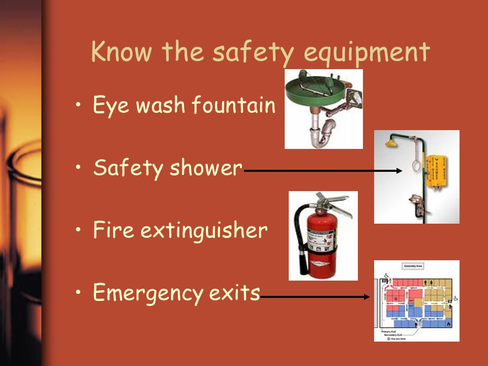 Know the safety equipment