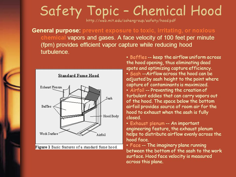 Safety Topic – Chemical Hood http://web. mit