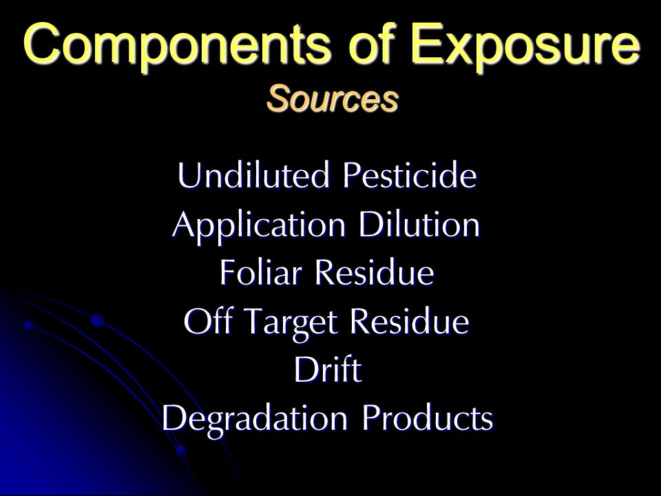 Components of Exposure Sources