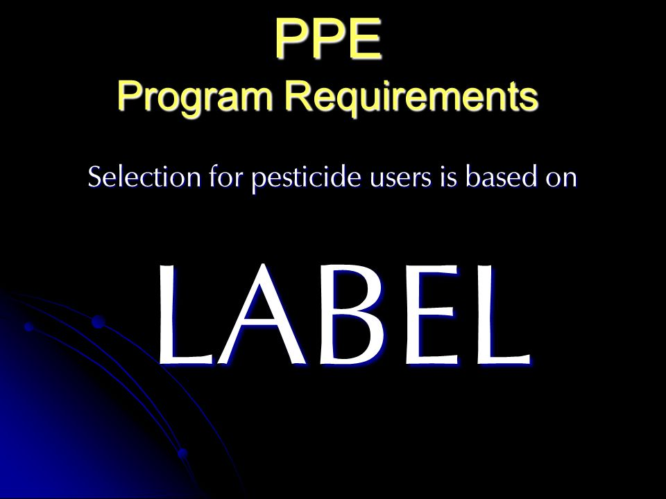 PPE Program Requirements