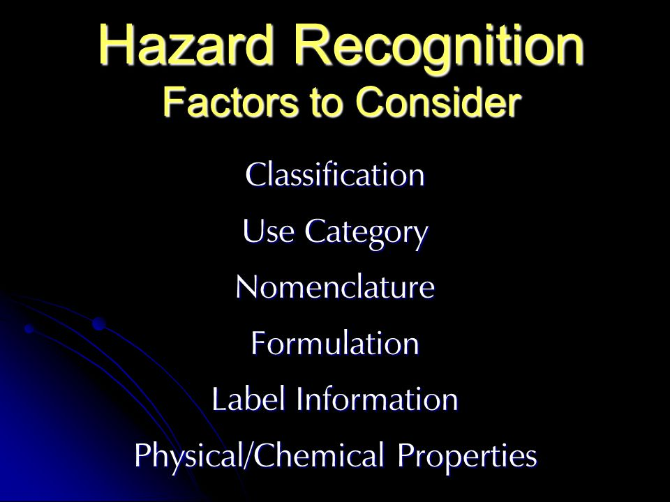 Hazard Recognition Factors to Consider