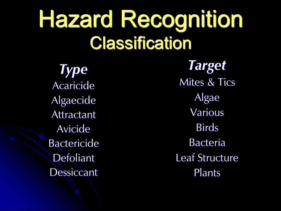 Hazard Recognition Classification