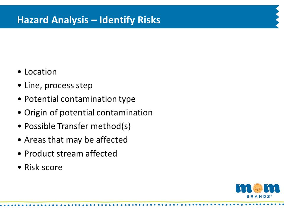 Hazard Analysis – Identify Risks