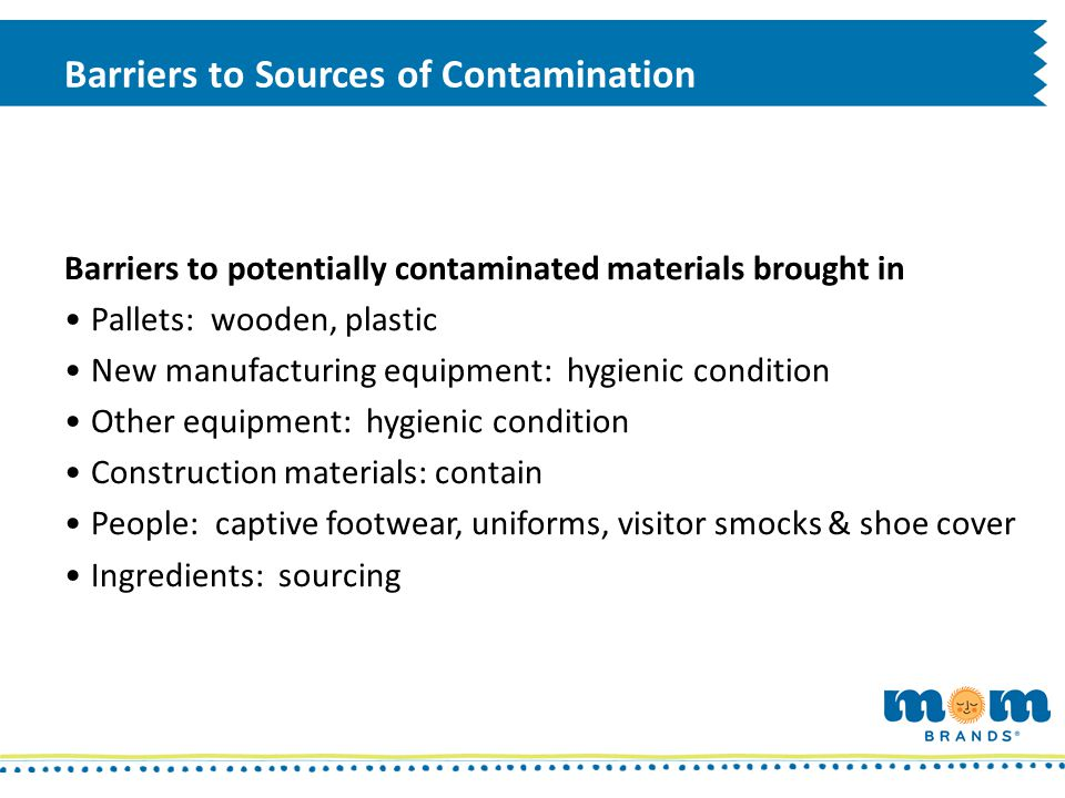 Barriers to Sources of Contamination