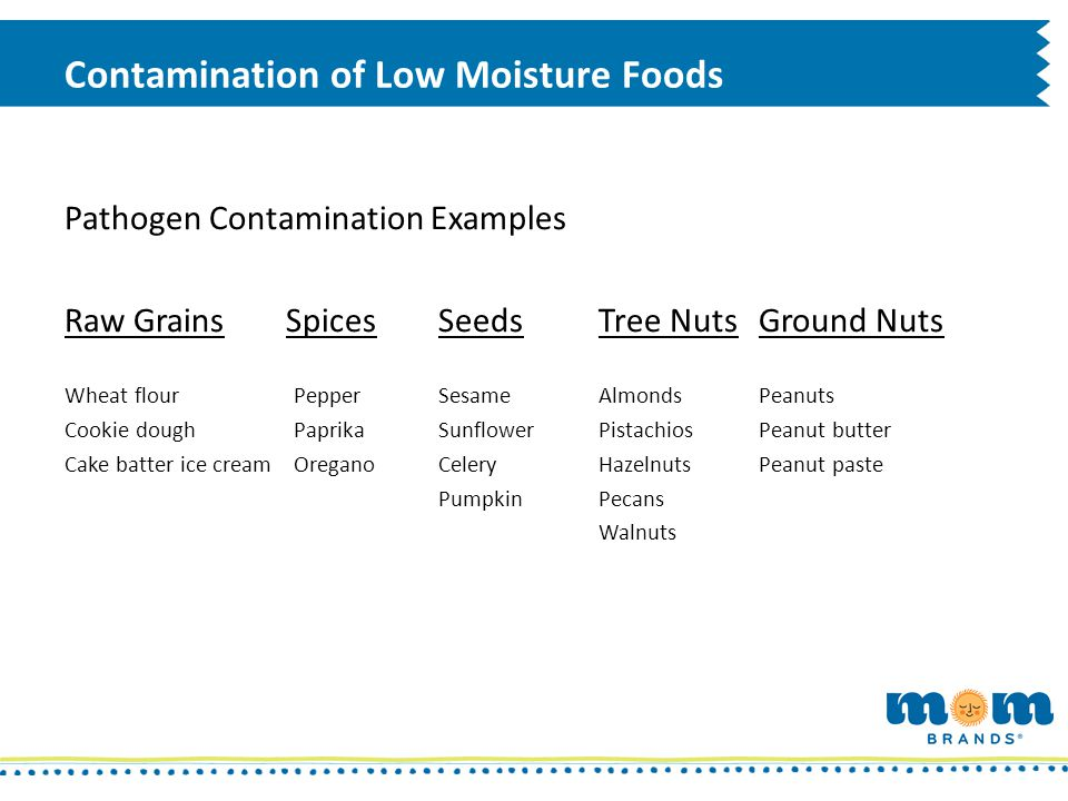Contamination of Low Moisture Foods