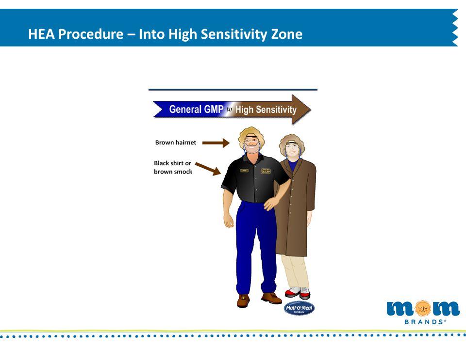HEA Procedure – Into High Sensitivity Zone