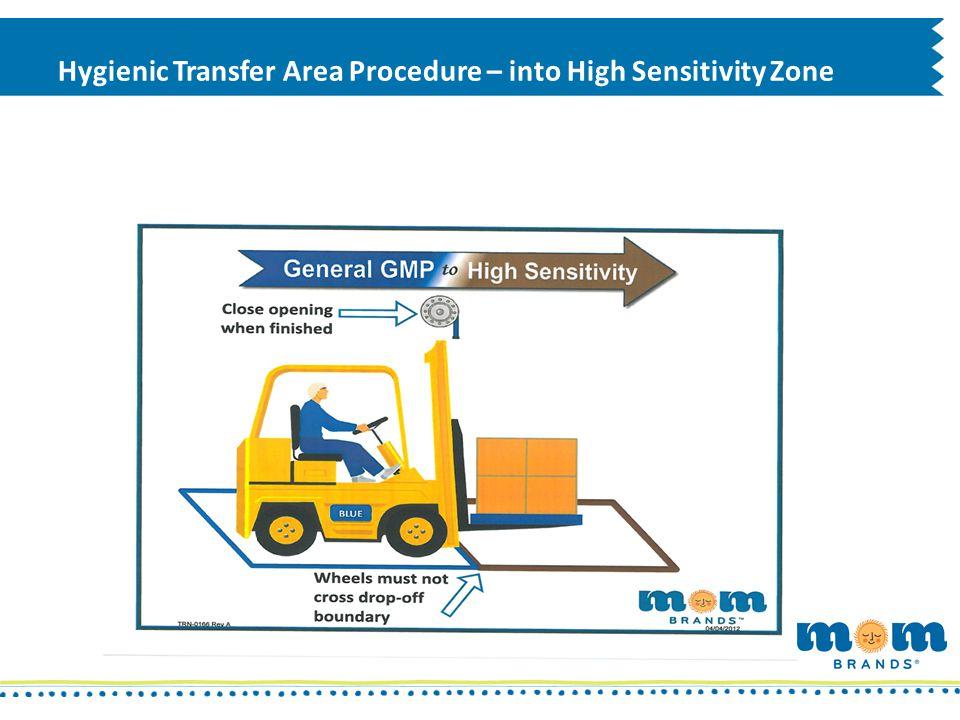 Hygienic Transfer Area Procedure – into High Sensitivity Zone