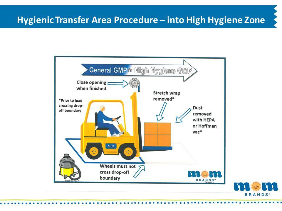 Hygienic Transfer Area Procedure – into High Hygiene Zone