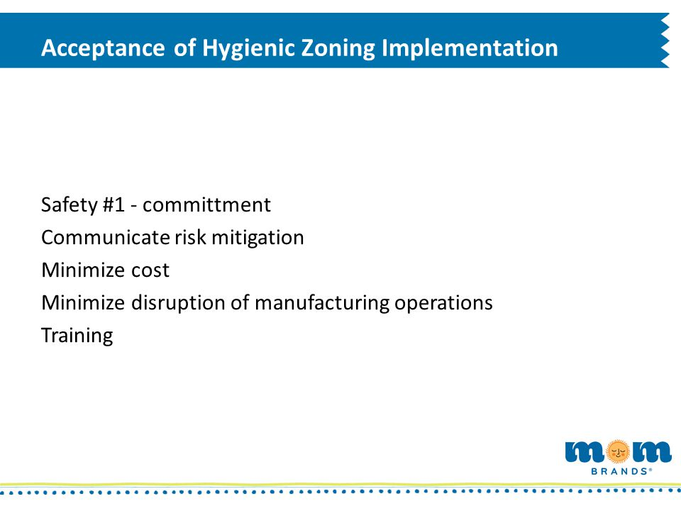 Acceptance of Hygienic Zoning Implementation