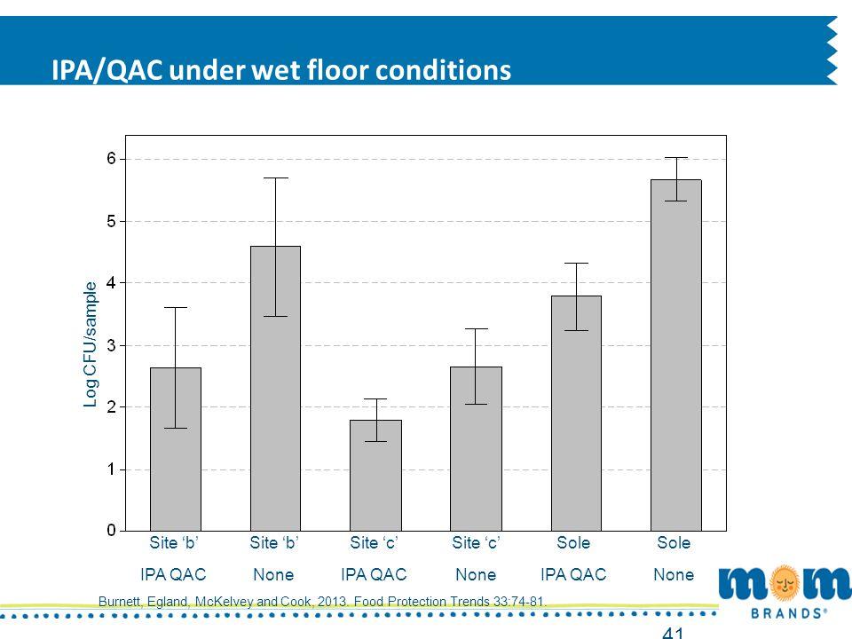 IPA/QAC under wet floor conditions