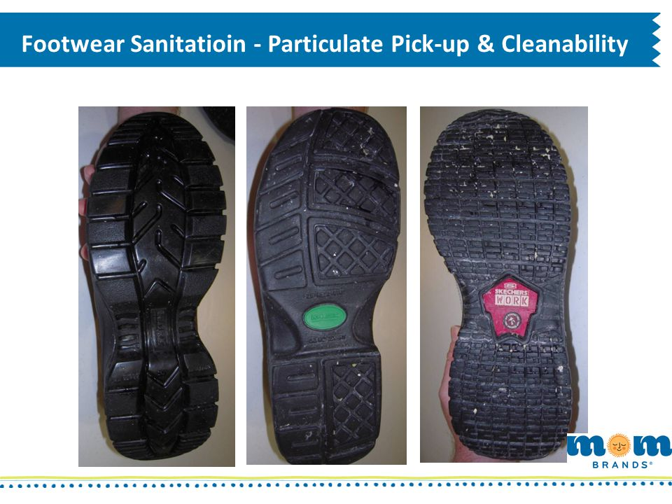 Footwear Sanitatioin - Particulate Pick-up & Cleanability