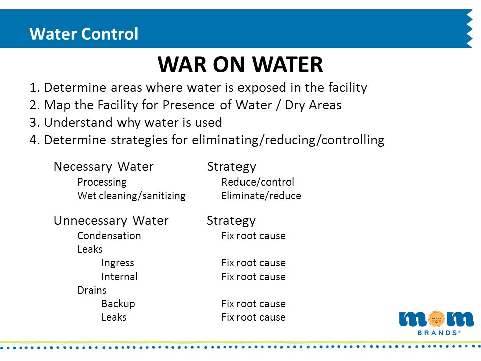 WAR ON WATER Water Control