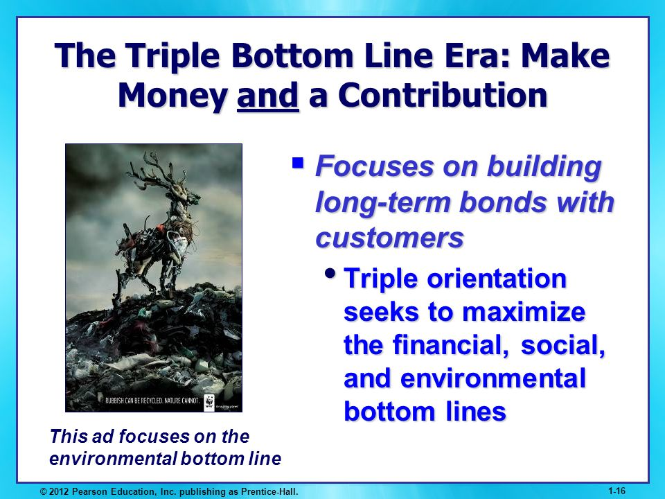 The Triple Bottom Line Era: Make Money and a Contribution