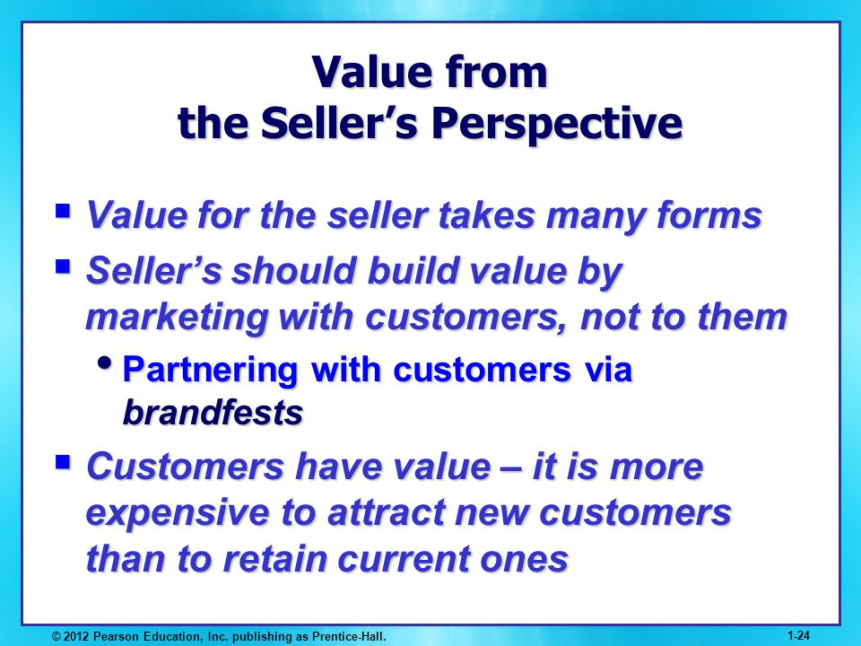 Value from the Seller's Perspective