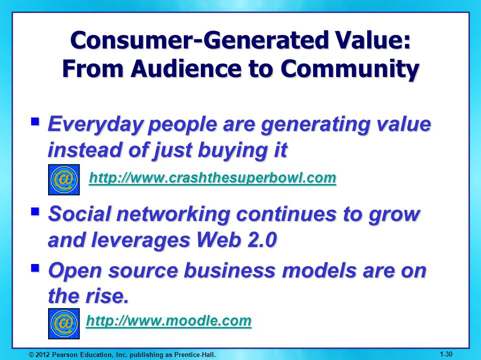 Consumer-Generated Value: From Audience to Community