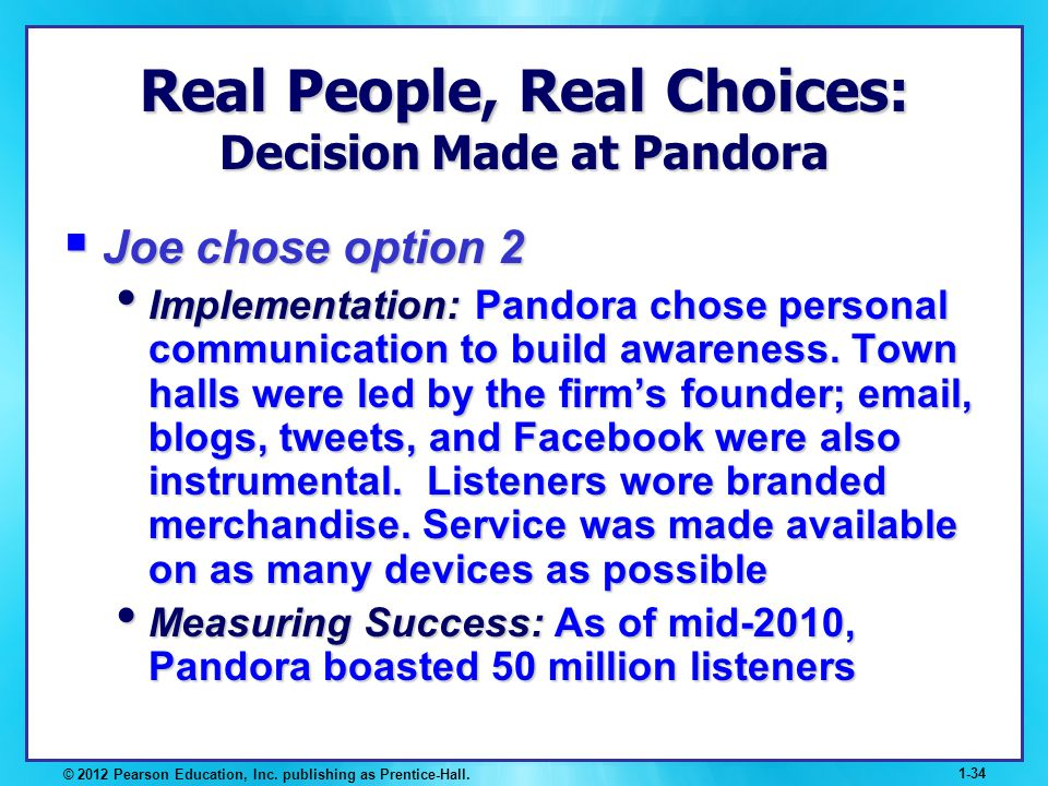 Real People, Real Choices: Decision Made at Pandora