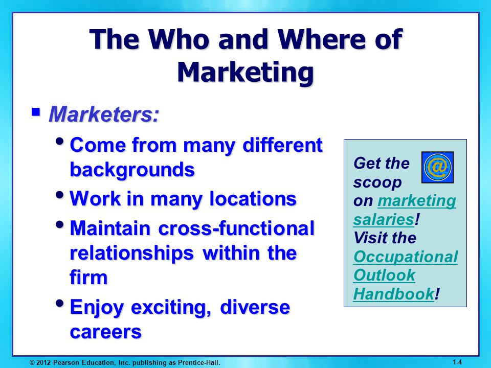 The Who and Where of Marketing