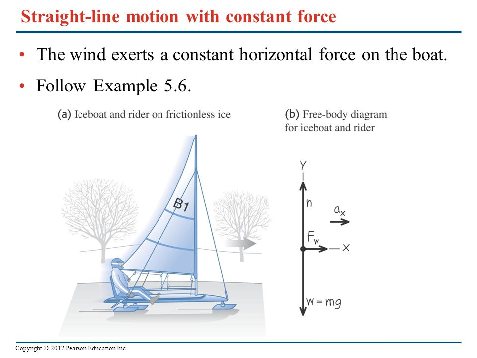 Straight-line motion with constant force
