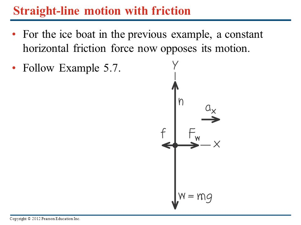 Straight-line motion with friction
