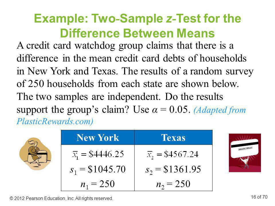 Example: Two-Sample z-Test for the Difference Between Means