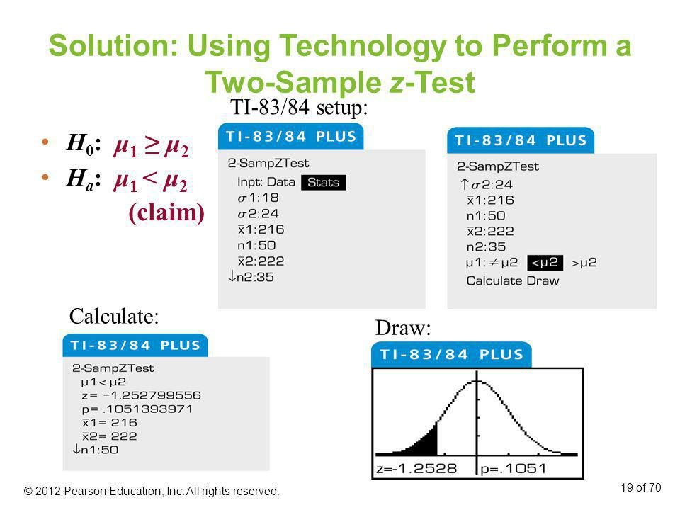 Solution: Using Technology to Perform a Two-Sample z-Test
