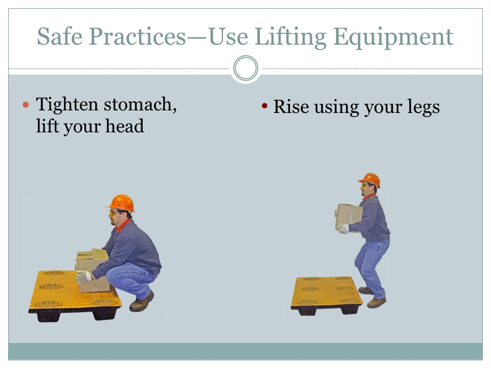 Safe Practices—Use Lifting Equipment