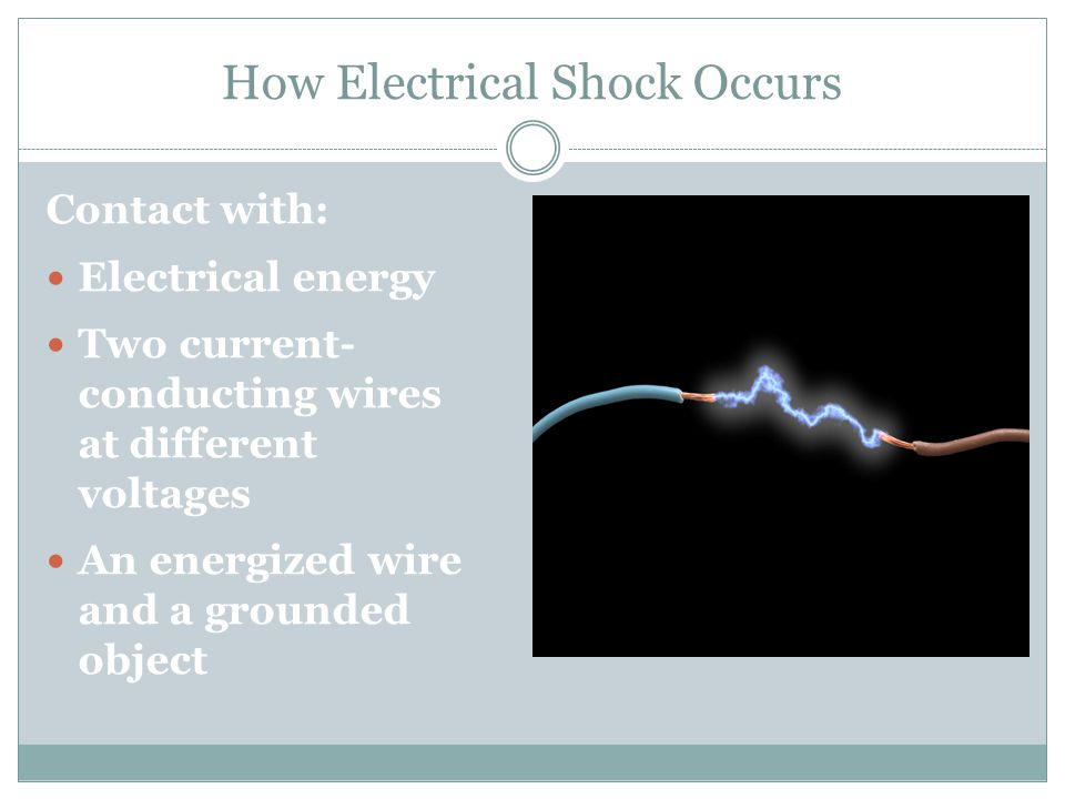 How Electrical Shock Occurs