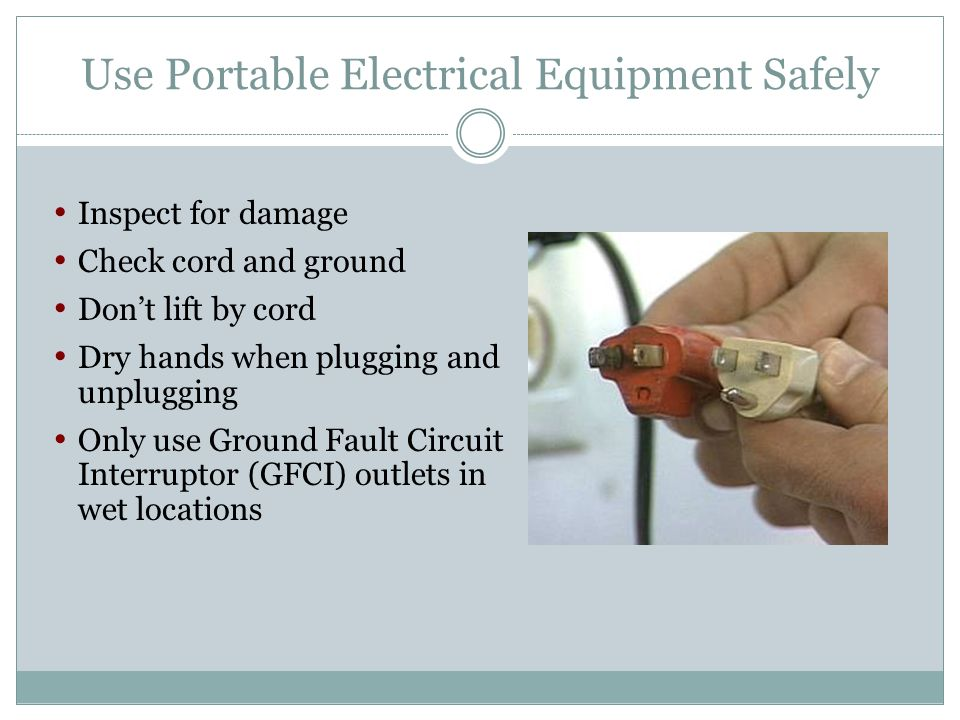 Use Portable Electrical Equipment Safely