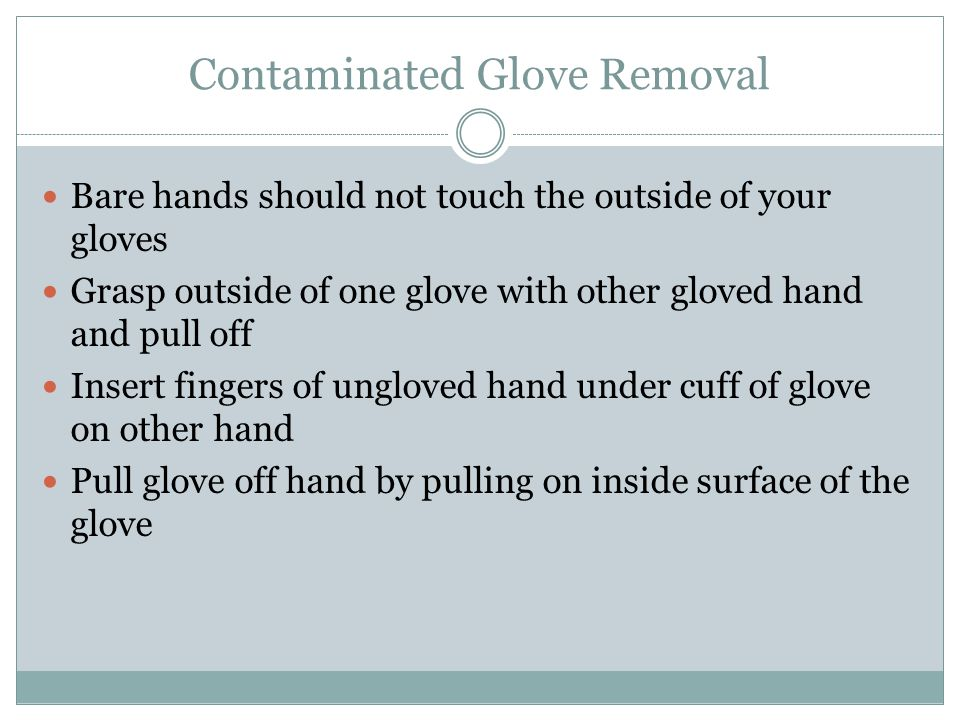 Contaminated Glove Removal