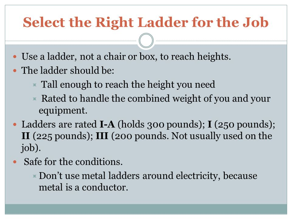 Select the Right Ladder for the Job
