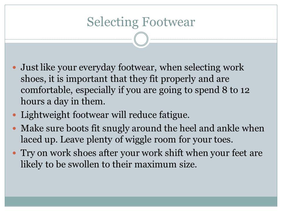 Selecting Footwear