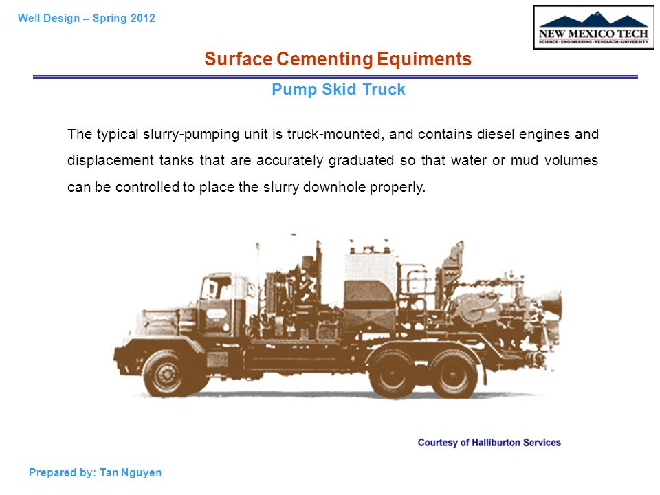 Surface Cementing Equiments