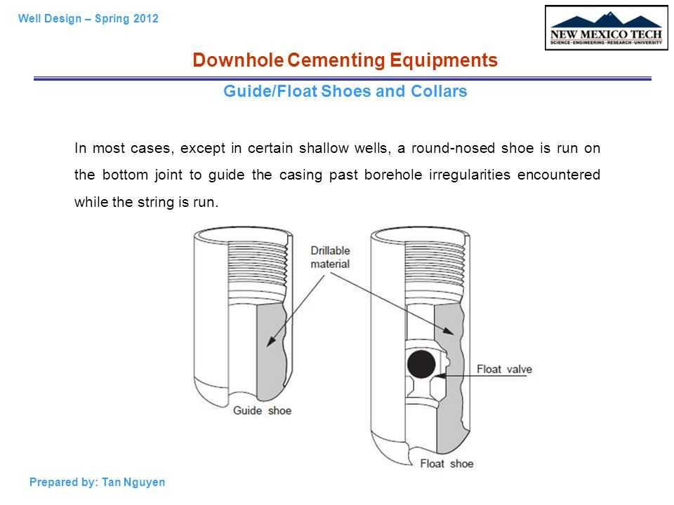 Downhole Cementing Equipments Guide/Float Shoes and Collars