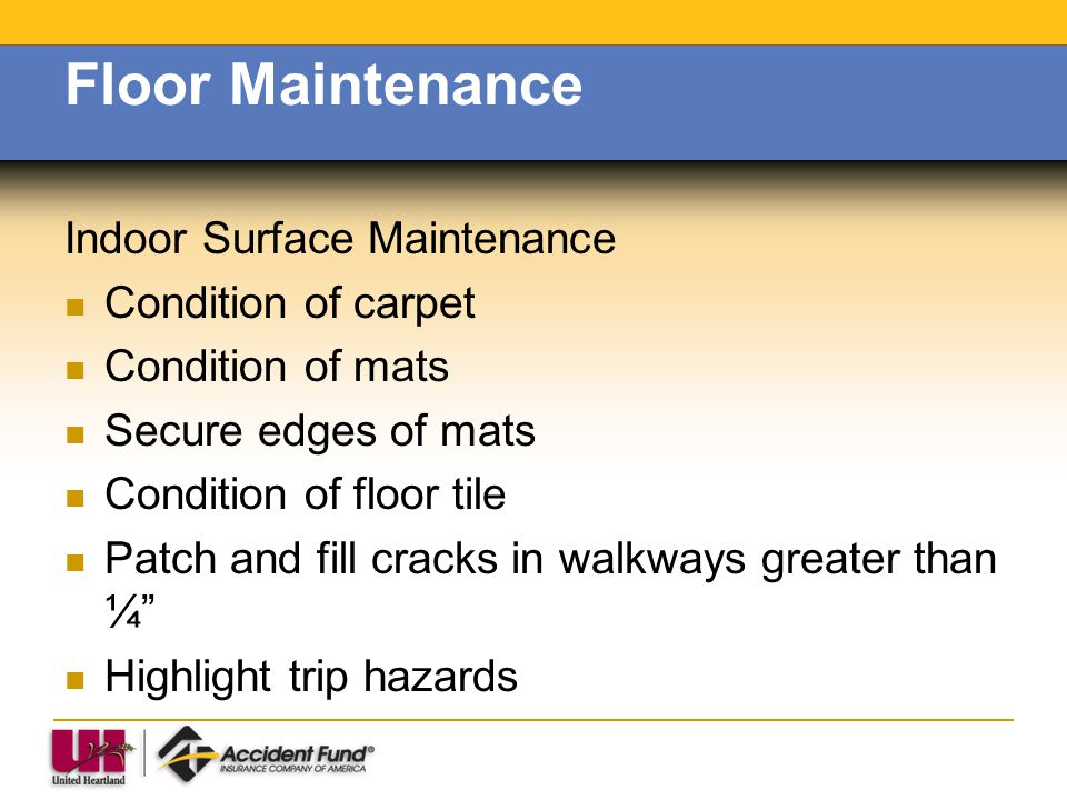 Floor Maintenance Indoor Surface Maintenance Condition of carpet