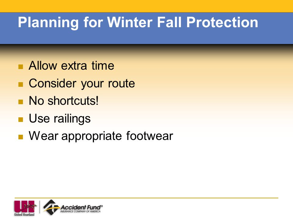 Planning for Winter Fall Protection