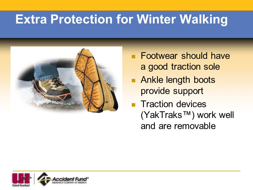 Extra Protection for Winter Walking