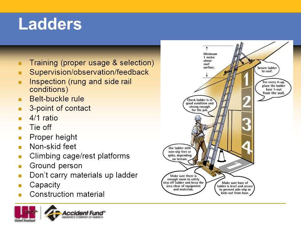 Ladders Training (proper usage & selection)