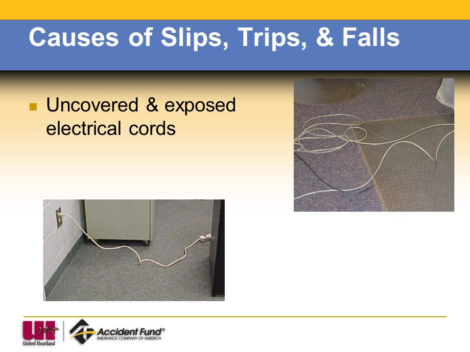 Causes of Slips, Trips, & Falls