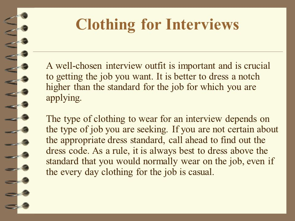 Clothing for Interviews