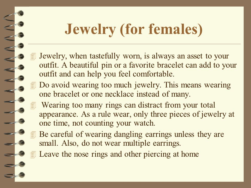 Jewelry (for females)