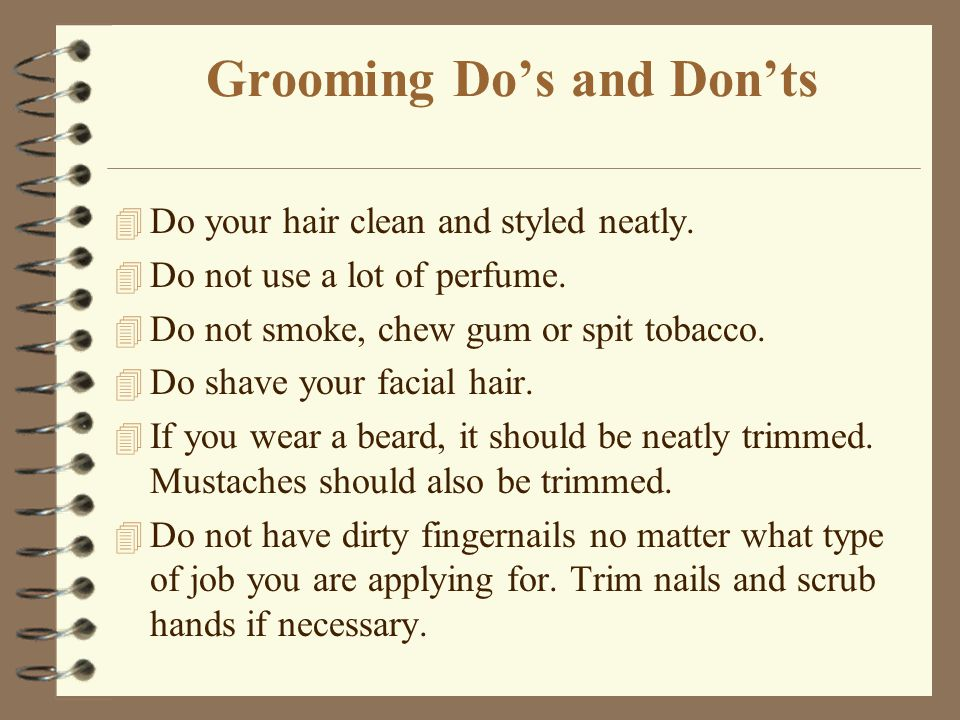 Grooming Do's and Don'ts