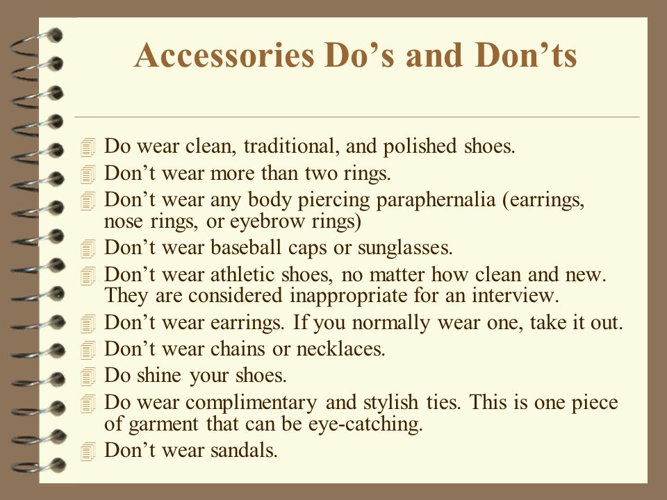 Accessories Do's and Don'ts
