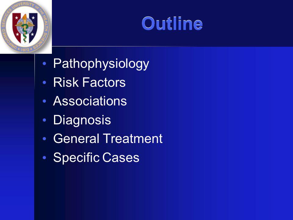 Outline Pathophysiology Risk Factors Associations Diagnosis