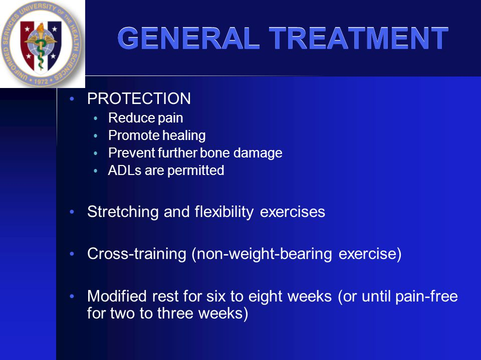 GENERAL TREATMENT PROTECTION Stretching and flexibility exercises