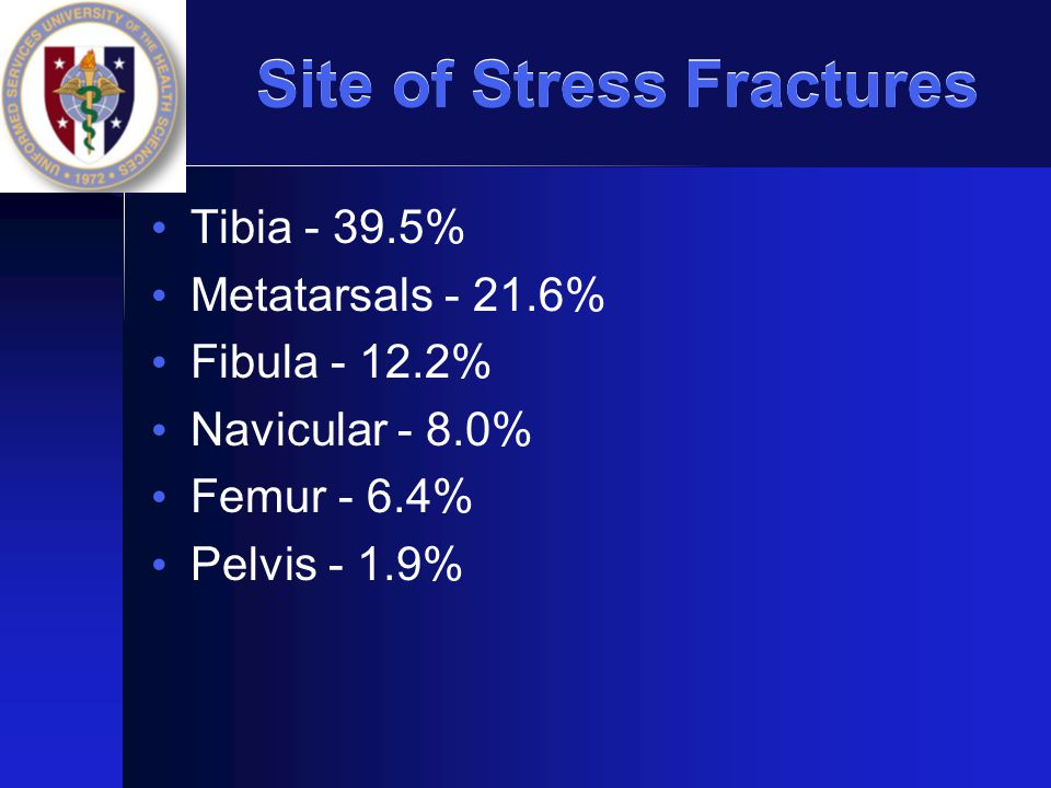 Site of Stress Fractures